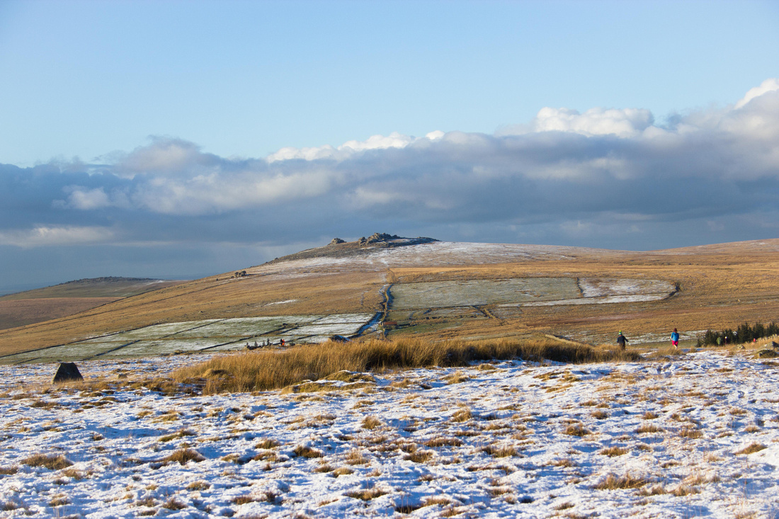 Little and Great Mis Tor in the snow